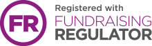 Registered with Fundraising Regulator text and logo